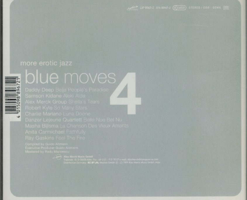 "Danzer/Lejeune Quartett, ""more erotic jazz - blue moves 4"" - compilation"