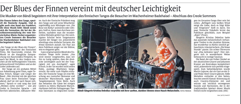 Bändi, Martin Lejeune, Presse