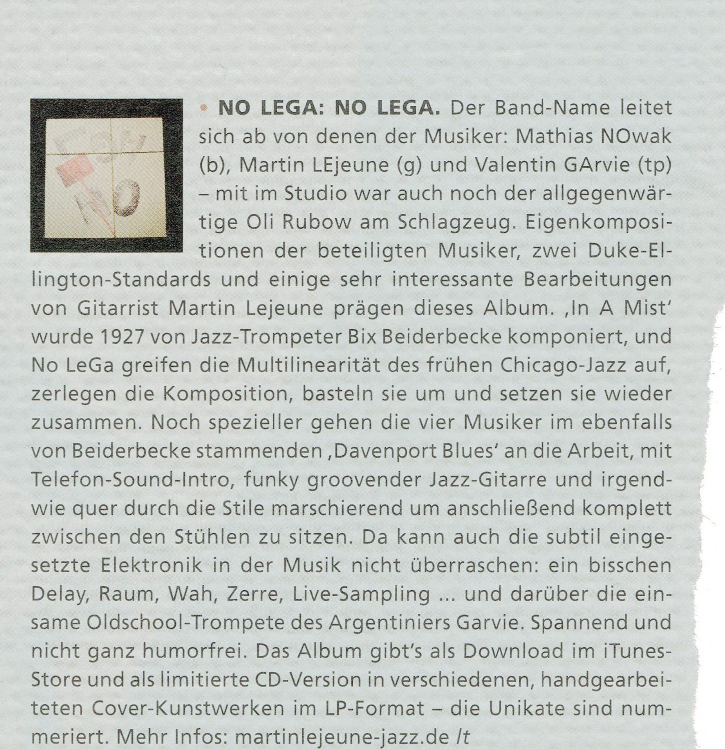 CD-Rezension No Lega Gitarre&Bass 1.18