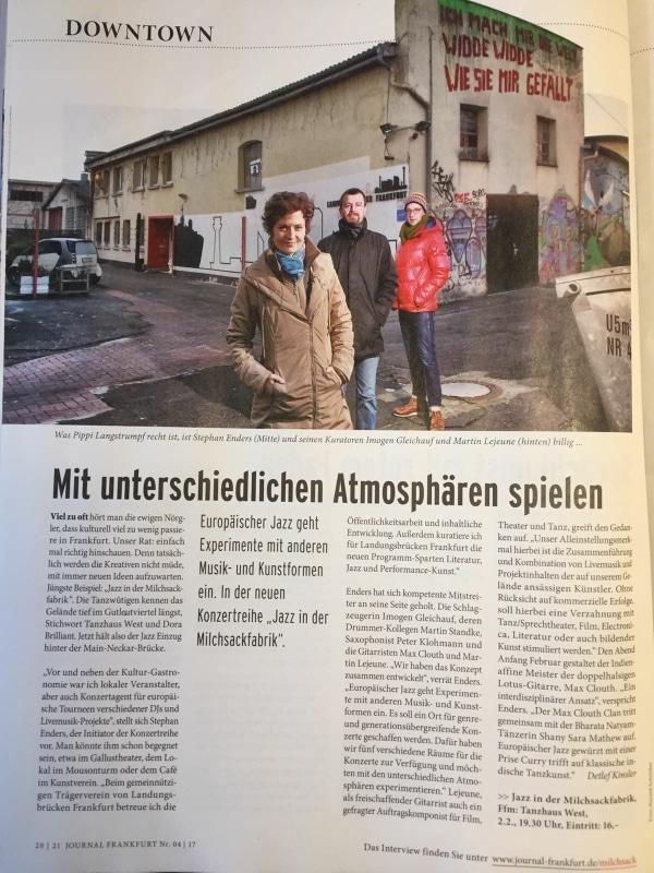 Jazz in der Milchsackfabrik; Martin Lejeune, Imogen Gleichauf, Stephan Enders
