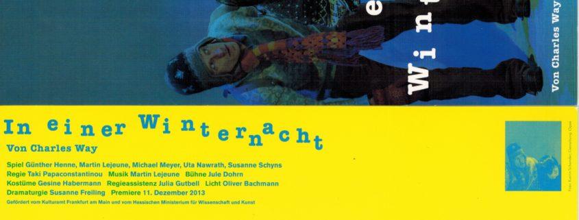 In einer Winternacht, Bühnenmusik Martin Lejeune, Theaterhausensensemble