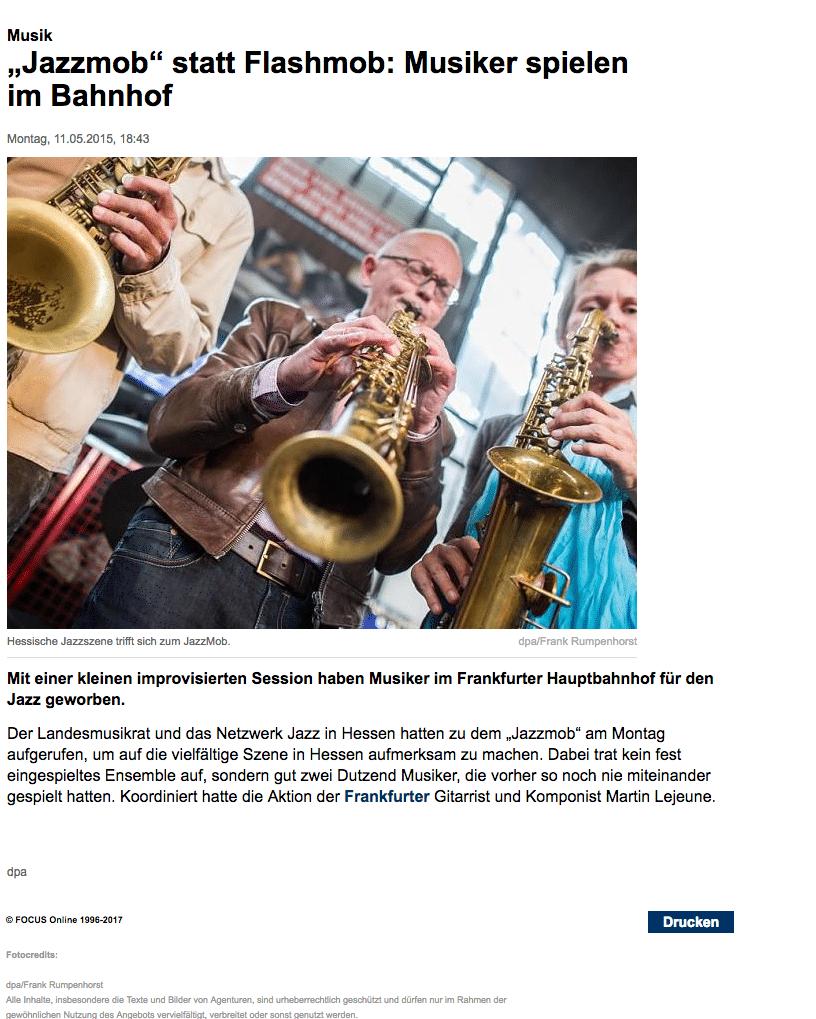 Jazzmob, Focus, Martin Lejeune