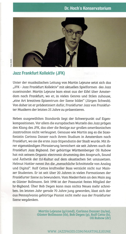 JFK - Jazz Frankfurt Kollektiv, Martin Lejeune