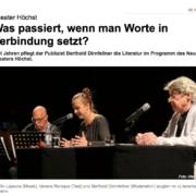 Martin Lejeune, Verena Specht-Ronique, Berthold Dirnfellner, Literarischer Ozean, Neues Theater Höchst