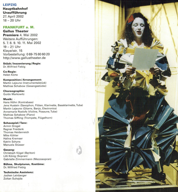 Bühnenmusik Martin Lejeune, Enemsble 9.Novemberne