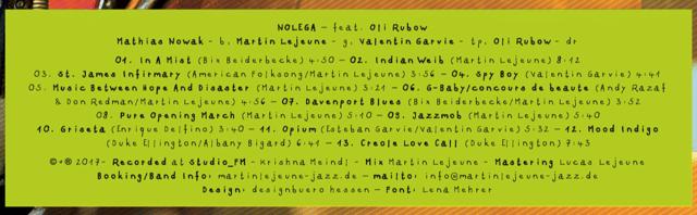 No Lega CD Tracklist