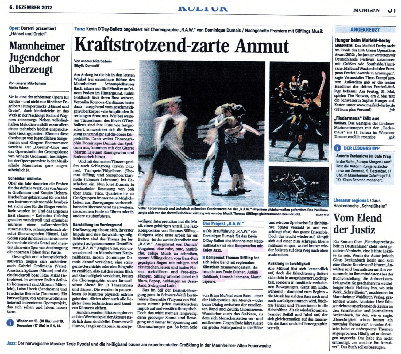 Erwin Ditzner Judith Goldbach Kevin O'Day Ballett Lömsch Lehmann Martin Lejeune RAW Thomas Siffling