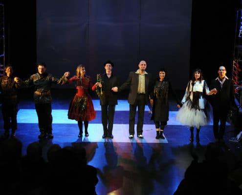 Martin Lejeune, Bühnenmusik, Jens Hunstein, Dirk-Peter Kölsch, Ensemble 9.November , Gallus Theater, Kosmos Theater Wien, Frau im Mond