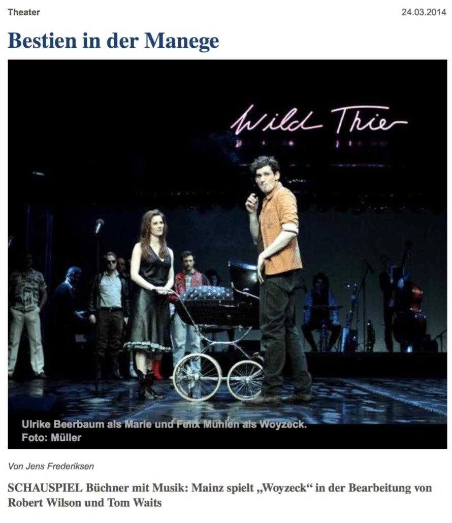 Woyzeck, Staatstheater Mainz, Martin Lejeune, Kontrabass